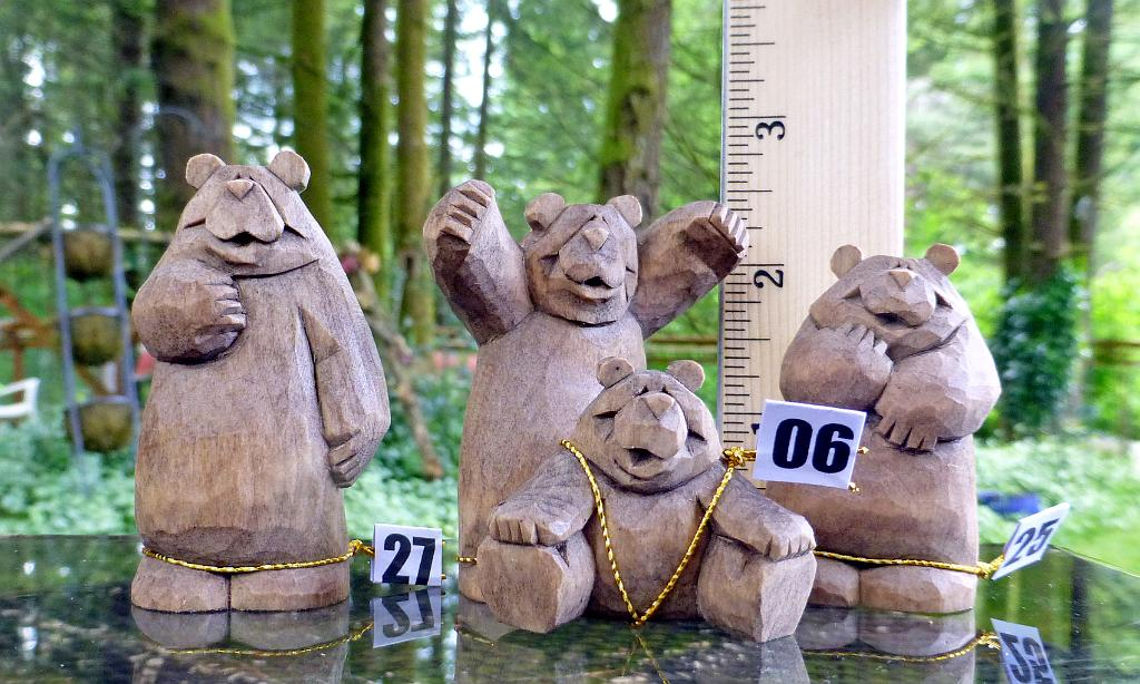 Bears with a ruler for size