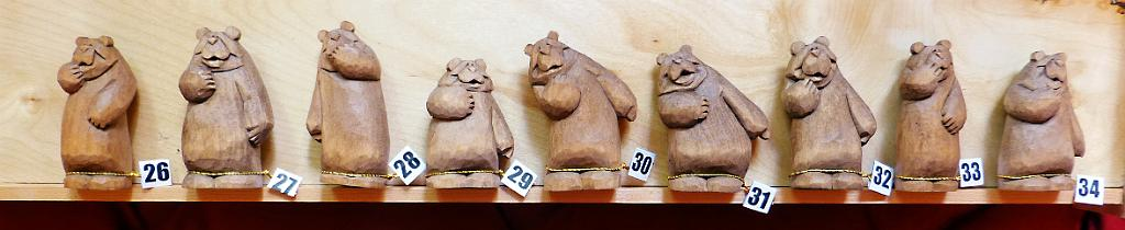 Anniversary Bear Carvings Group 3