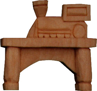 toy train carving
