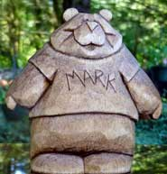 personalized bear wood carvings