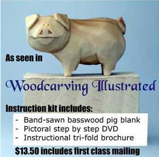 pig wood carving kit